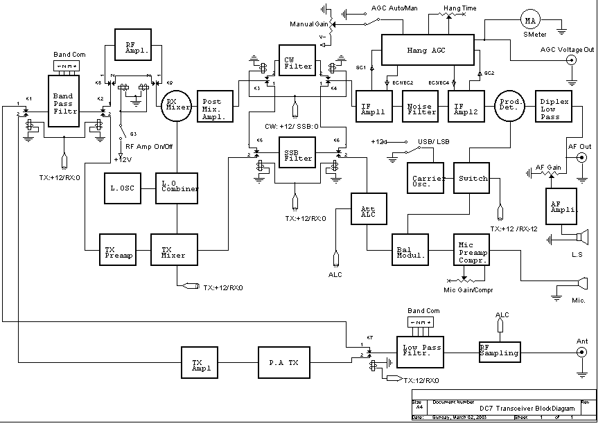 simple qrp transceiver circuit diagrams